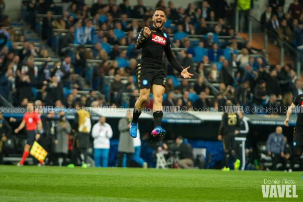 Insigne esulta dopo il gol del 0-1 | Daniel Nieto - VAVEL