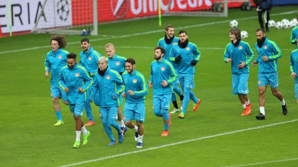 L'allenamento del Leverkusen - Fonte: bayer04.de