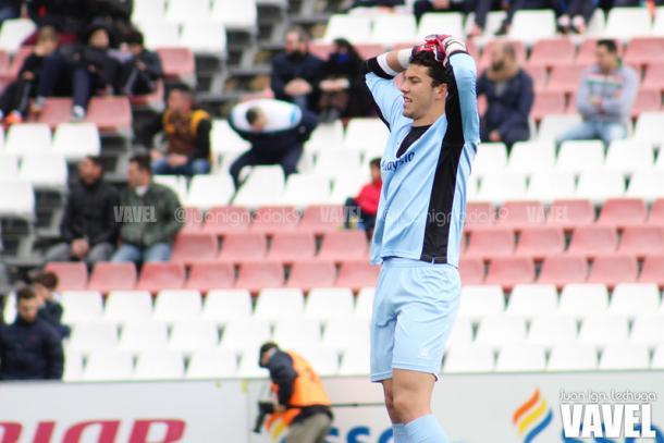 Soria frente al Betis B en 2015 cuando jugaba en la cantera del Sevilla. Fuente: VAVEL.com