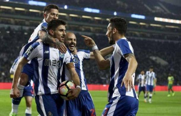 I Dragones esultano dopo una delle reti segnate nell'ultimo matchday al Tondela. | picenotime.it