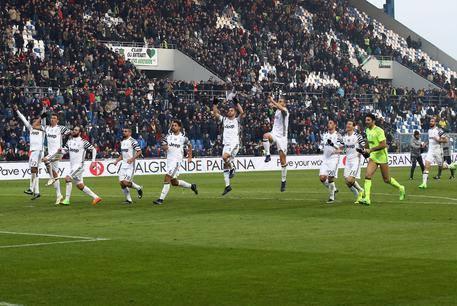 Un'esultanza dei calciatori della Juventus. | ansa.it