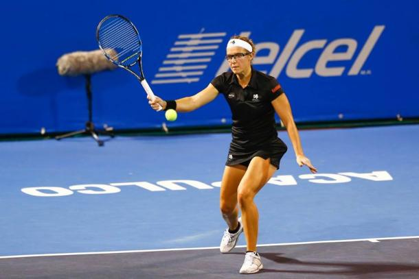 Kirsten Flipkens was not able to defeat Kristina Mladenovic.  (Photo: Mextenis)