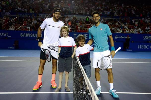 Novak Djokovic and Juan Martin Del Potro impressed the fans with their second round match.  (Photo: Mextenis)