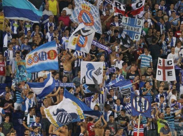 La afición en el derbi de 2014   Foto: RCD Espanyol