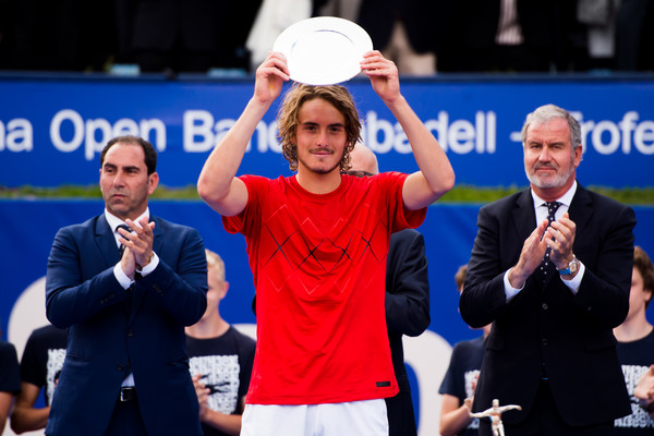 At the age of 19, Stefanos Tsitsipas reached the first final of his career last week in Barcelona, falling to Rafael Nadal. Photo: Alex Caparros/Getty Images