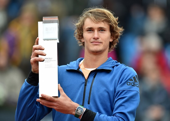 Alexander Zverev will look to win his second consecutive title on home soil this week in Munich. Photo: Christof Stache/AFP