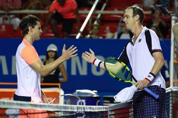 Dominic Thiem is not going to be able to defend the title as Sam Querrey ended his run in Acapulco. (Photo: Mextenis)