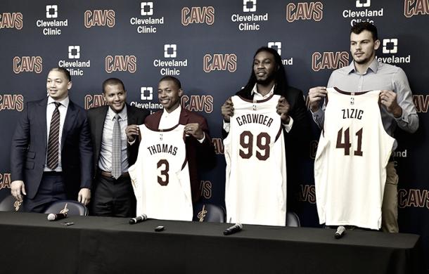 Thomas, Crowder y Zizic | Foto: NBA