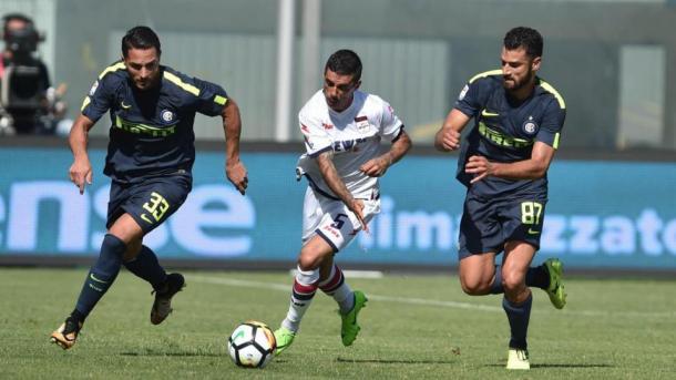 D'Ambrosio, Stoian e Candreva in azione durante la partita | LaPresse