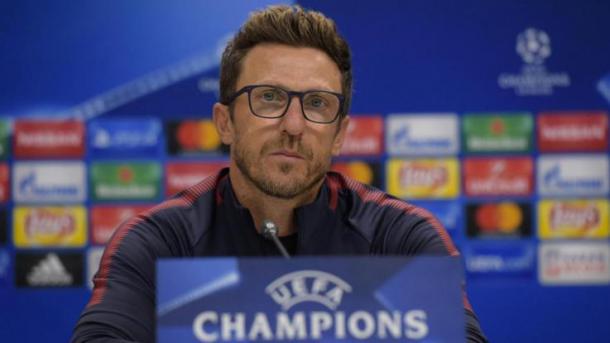 Eusebio Di Francesco, allenatore giallorosso alla prima stagione sulla prestigiosa panchina della Lupa. Fonte foto: lapresse