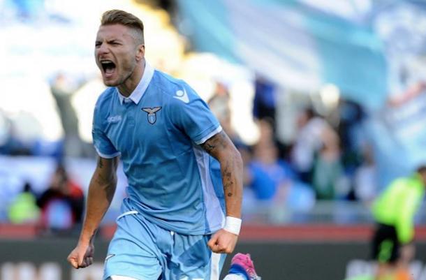 Immobile esulta dopo il suo gol segnato all'Udinese. | lazialita.com