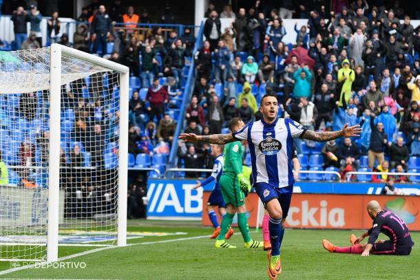 Joselu logró marcar ante los rivales más potentes de LaLiga. / Imagen: RCDeportivo