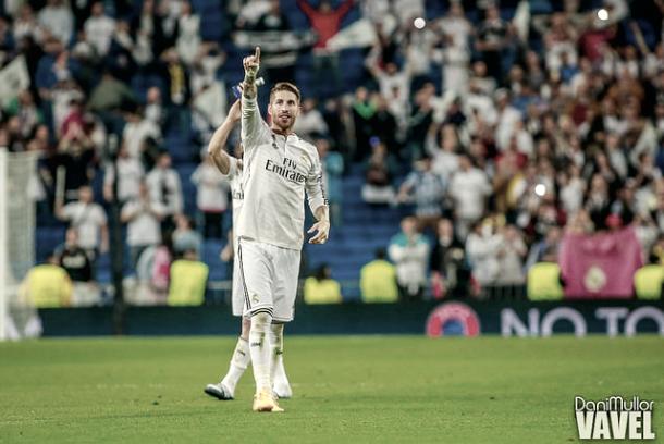 Sergio Ramos en el Bernabéu. / Foto: Dani Mullor - VAVEL