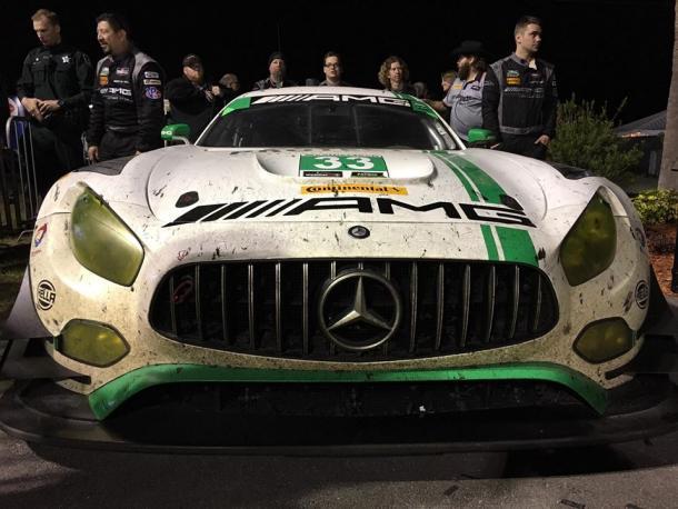 Mercedes com vitória história na classe GTD. (Foto: IMSA)