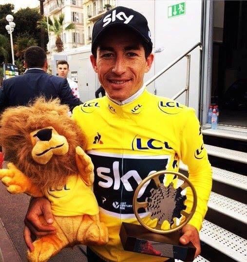 Sergio Henao abbraccia il suo primo vero grande trofeo. La Paris-Nice è sua. (Facebook)