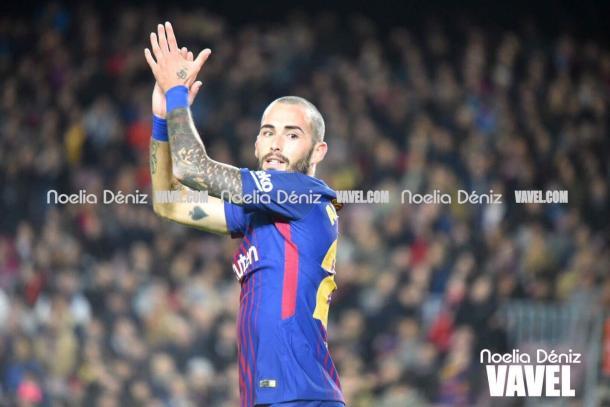 Aleix Vidal durante el partido ante el Murcia. Foto: Noelia Déniz, VAVEL.com