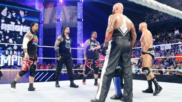 What role will The Usos and The Club play in the Main Event? Photo: WWE.com