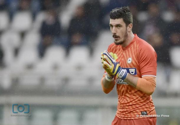 Scuffet, tornato titolare dopo diversi mesi. Fonte: www.facebook.com/UdineseCalcio1896    
