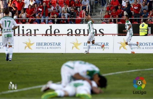 Córdoba vence no sufoco e está bem perto dos playoffs (Foto: Divulgação/La Liga)