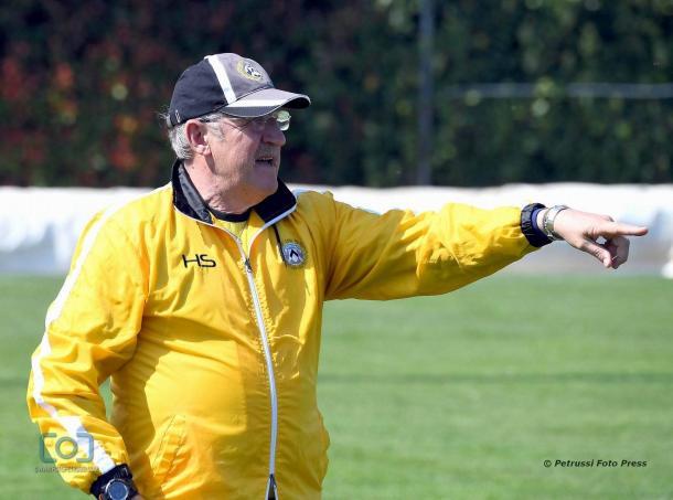 Delneri nell'amichevole con il Campodarsego. Fonte: www.facebook.com/UdineseCalcio1896