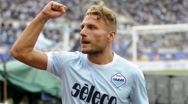 Ciro Immobile, splendido protagonista nel match vinto dalla Lazio sul Milan. Fonte foto: corriere dello sport