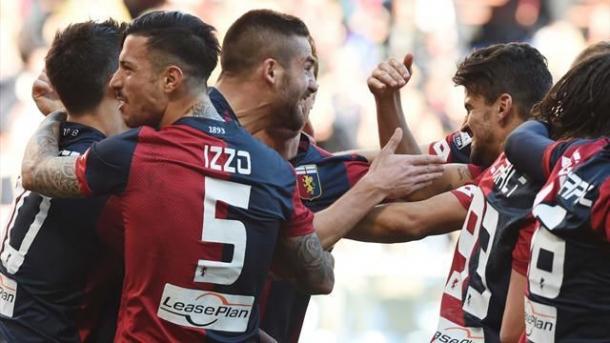 L'esultanza dei rossoblu nel 4-0 al Palermo | Foto: eurosport.it