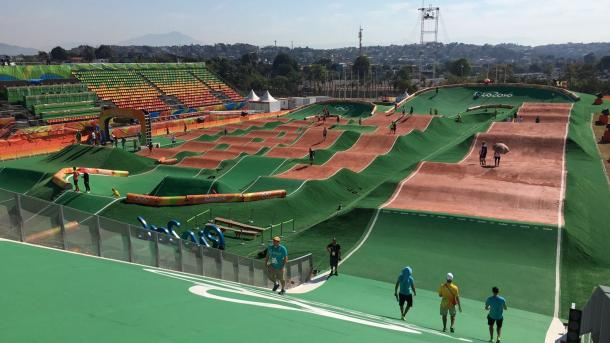 pista de Supercross en el Parque Olímpico Deodoro / Foto: @UCI_BMX_SX