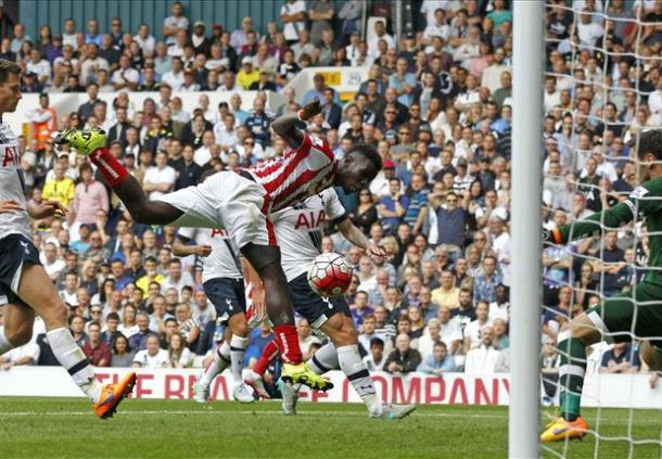 Diouf scored a late equaliser to deny Spurs the three points at White Hart Lane earlier in the season | Photo: Getty Images