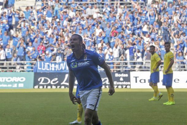 Cervero, tras marcar contra el Cádiz | Foto: Real Oviedo