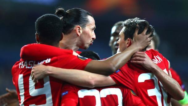 L'esultanza dei calciatori Devils dopo lo 0-1 virtuale all'Anderlecht. | corrieredellosport.it