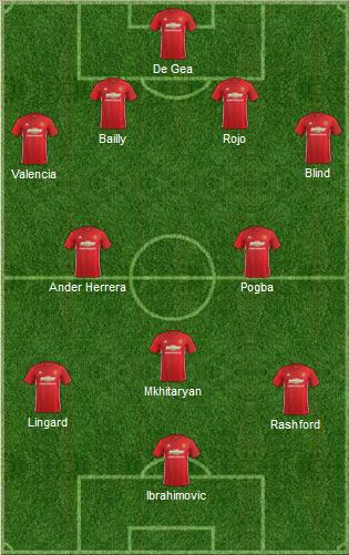 Il probabile 11 di Mourinho: 4-2-3-1. | VAVEL.com via footballuser.com
