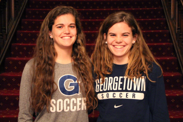 Rachel and Daphne played together for a season at Georgetown | Source: Claire Soisson - The Hoya