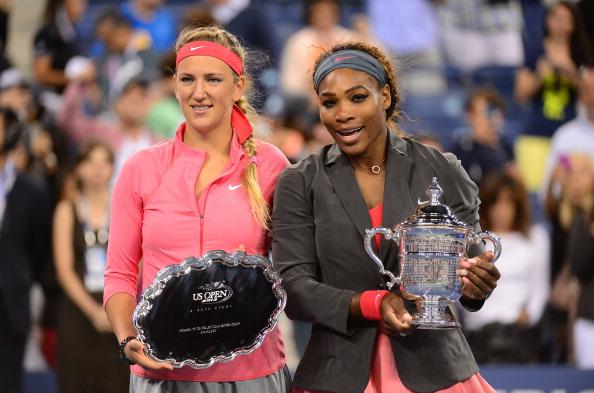 Azarenka (left) finishing runner up at the 2013 US Open | Photo: Emmanuel Dunand/Getty Images