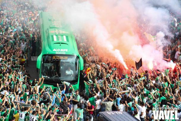 Recibimiento al Betis   Fotografía: Juan Ignacio Lechuga
