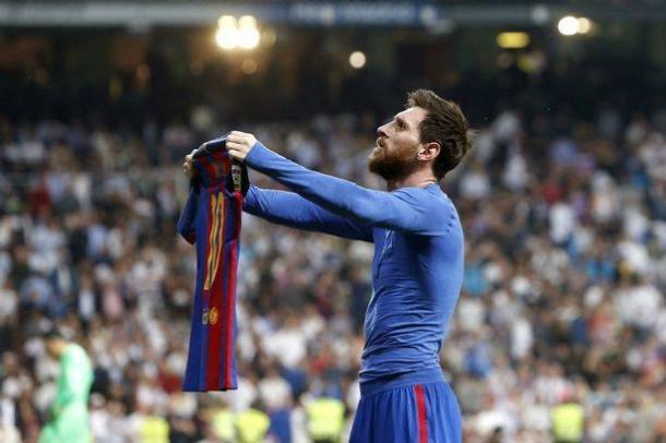 L'esultanza di Messi. | Fonte immagine: Mirror