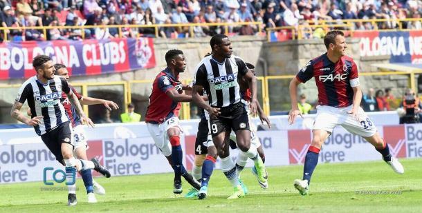 Duvàn Zapata e Thereau non hanno inciso.  Fonte: www.facebook.com/UdineseCalcio1896