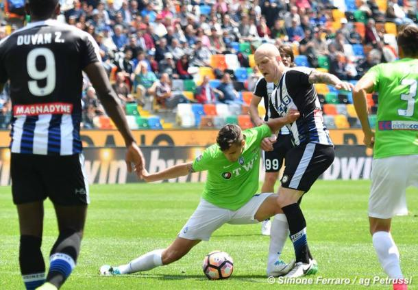 Hallfredsson, il grande assente tra i friulani. Fonte: www.facebook.com/UdineseCalcio1896