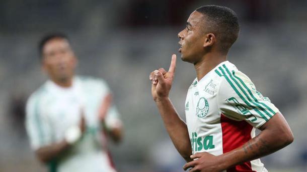 Gabriel Jesus marca dois gols no Mineirão, diante do Cruzeiro, na Copa do Brasil 2015 (Foto: Cesar Greco / Ag. Palmeiras / Divulgação)