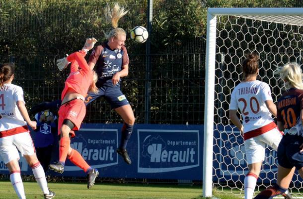 Stina Blackstenius in action for Montpellier | Source: mhscfoot.com