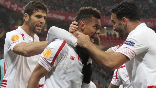 L'esultanza di Kolo dopo il gol al Bilbao. Fonte: Getty.