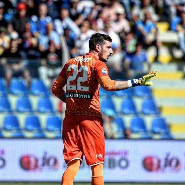 Scuffet nel match con il Crotone. Fonte: https://www.facebook.com/UdineseCalcio1896