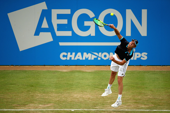 Sam Querrey serving up a win (Photo: Clive Brunskill/Getty Images)