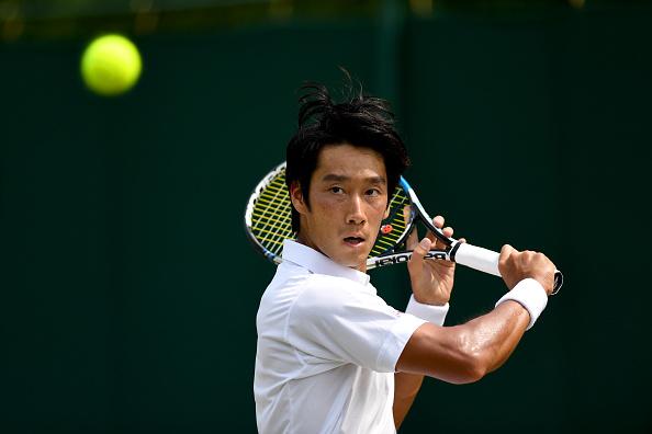 Yuichi Sugita prepares to hit a shot (Photo: David Ramos/Getty Images)