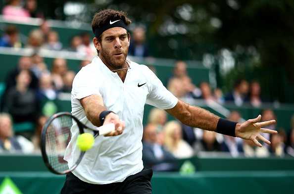 Juan Martin del Potro gearing up for Wimbledon by palying the Boodles event (Photo: Ben Hoskins/Getty Images)