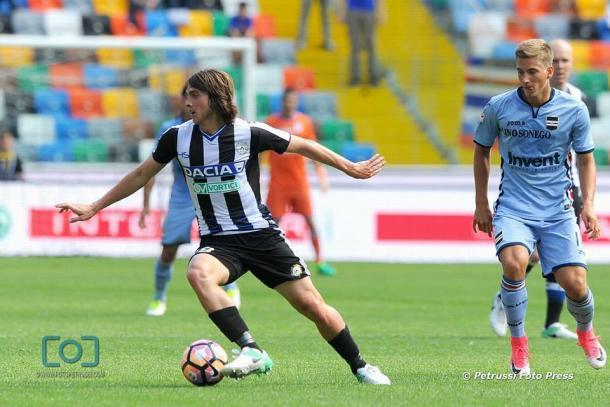 Altra buona partita per Balic. Fonte: https://www.facebook.com/UdineseCalcio1896/?fref=ts