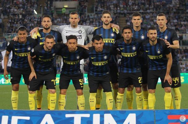 L'Inter che ha affrontato la Lazio. Fonte: https://www.facebook.com/Inter