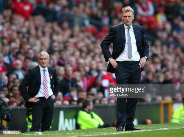Moyes and Hughes are both without a win this season. Photo: Getty