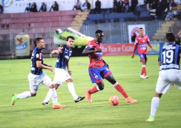 Deportivo Pasto de local frente a Junior. Foto: DeporPasto.