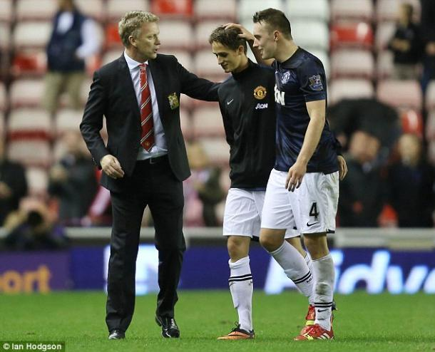 Above: David Moyes congratulating Adnan Januzaj after Manchester United's 2-1 win over Sunderland back in 2013 | Photo: Ian Hodgson