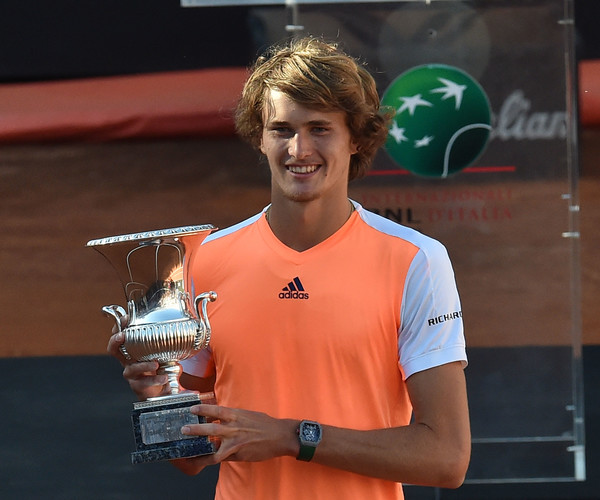 Zverev made a statement with his victory in Rome last year. He will look to defend a Masters 1000 crown for the first time this week. Photo: Giuseppe Bellini/Getty Images